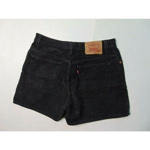 Vintage Levi's 13 Black Jean Shorts High Waisted